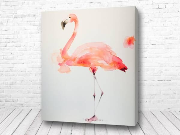 Постер Фламинго акварелью