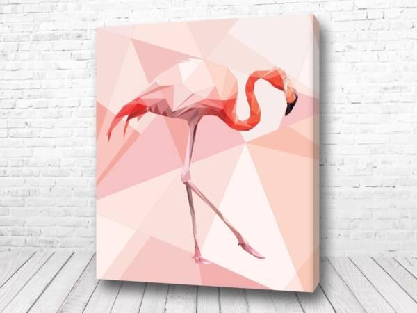 Постер Полигональный фламинго
