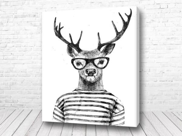 Олень в очках