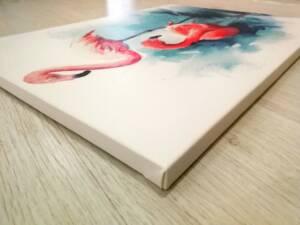 Постер арт фламинго