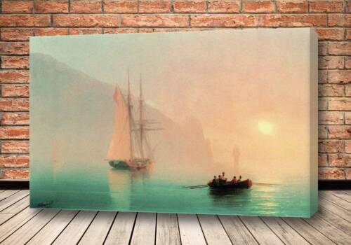 Картина Аю-Даг в туманный день 1853