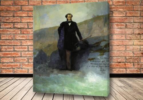 Картина А.С. Пушкин на берегу Черного моря 1897