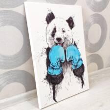Картина панда в боксёрских перчатках