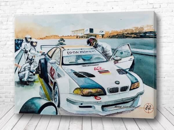Постер Пит стоп от BMW
