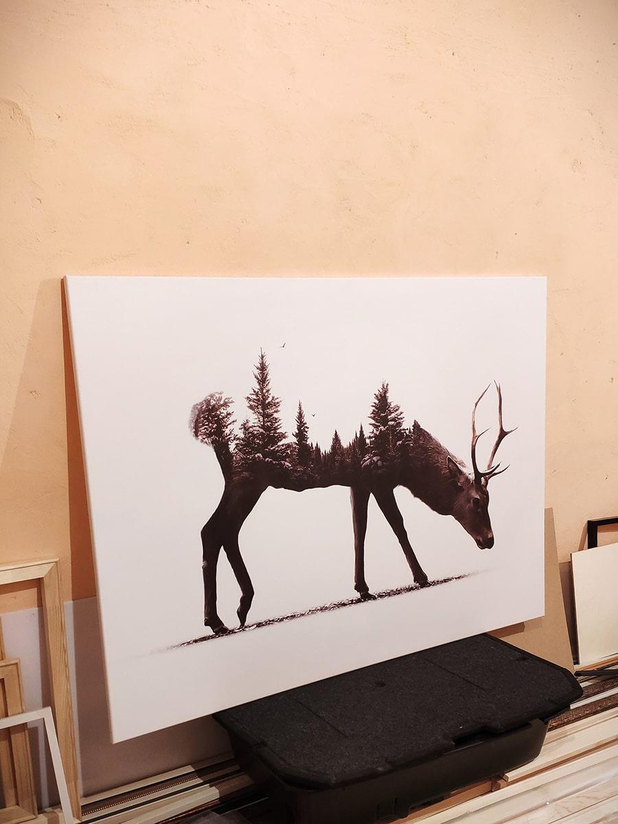 Картина лофт Лес в Олене