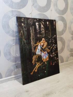 Картина Серый Волк в интерьере
