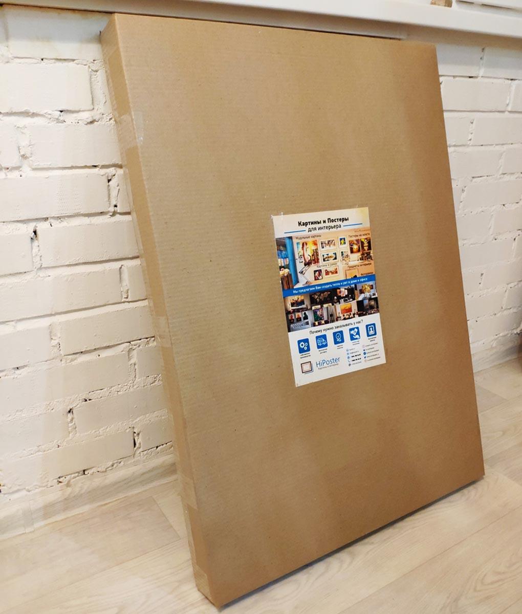 Картина упакованная для доставки