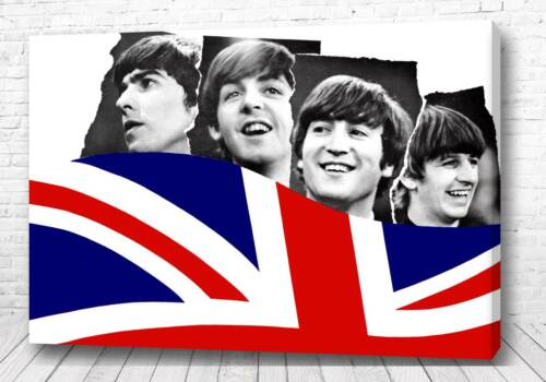 Постер Битлз на флаге