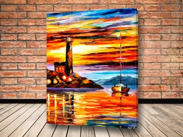 Картина Берег и маяк