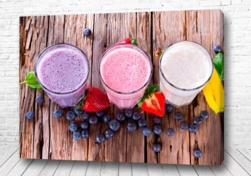 Постер молочные коктейли