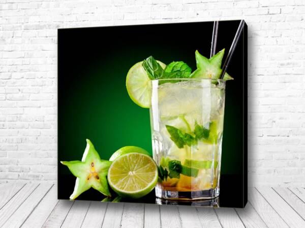 Постер коктейль лайм