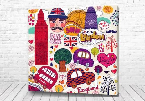 Постер Английские стикеры