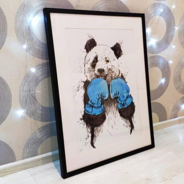 Постер панда в раме 1
