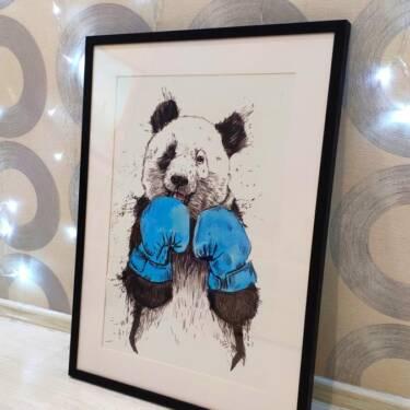 Постер панда в раме 2