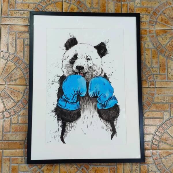 Постер панда в раме 6
