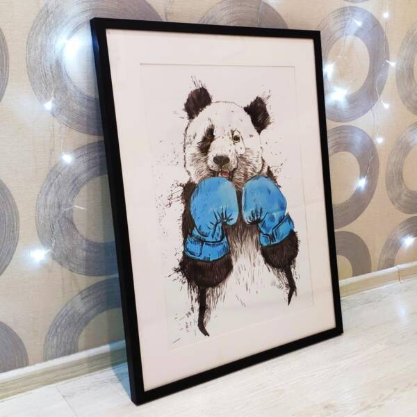 Постер панда в раме 7