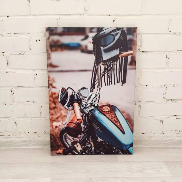 Постер мотоцикл на холсте 1