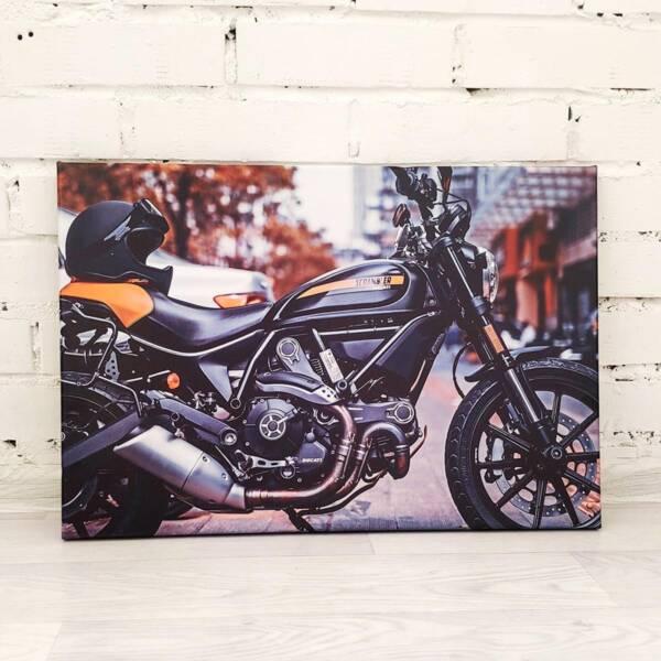 Постер мотоцикл на холсте 2