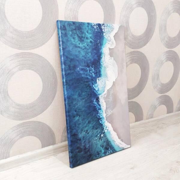Постер берег моря на холсте 4