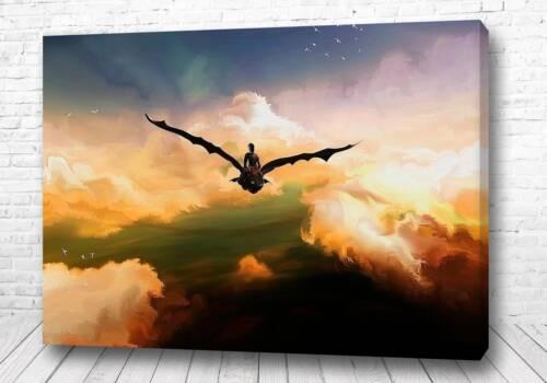 Постер полёт на драконе
