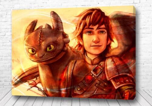 Постер как приручить дракона арт