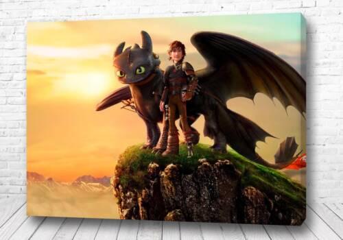 Постер дракон на горе