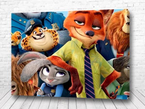 Постер главные герои Зверополис