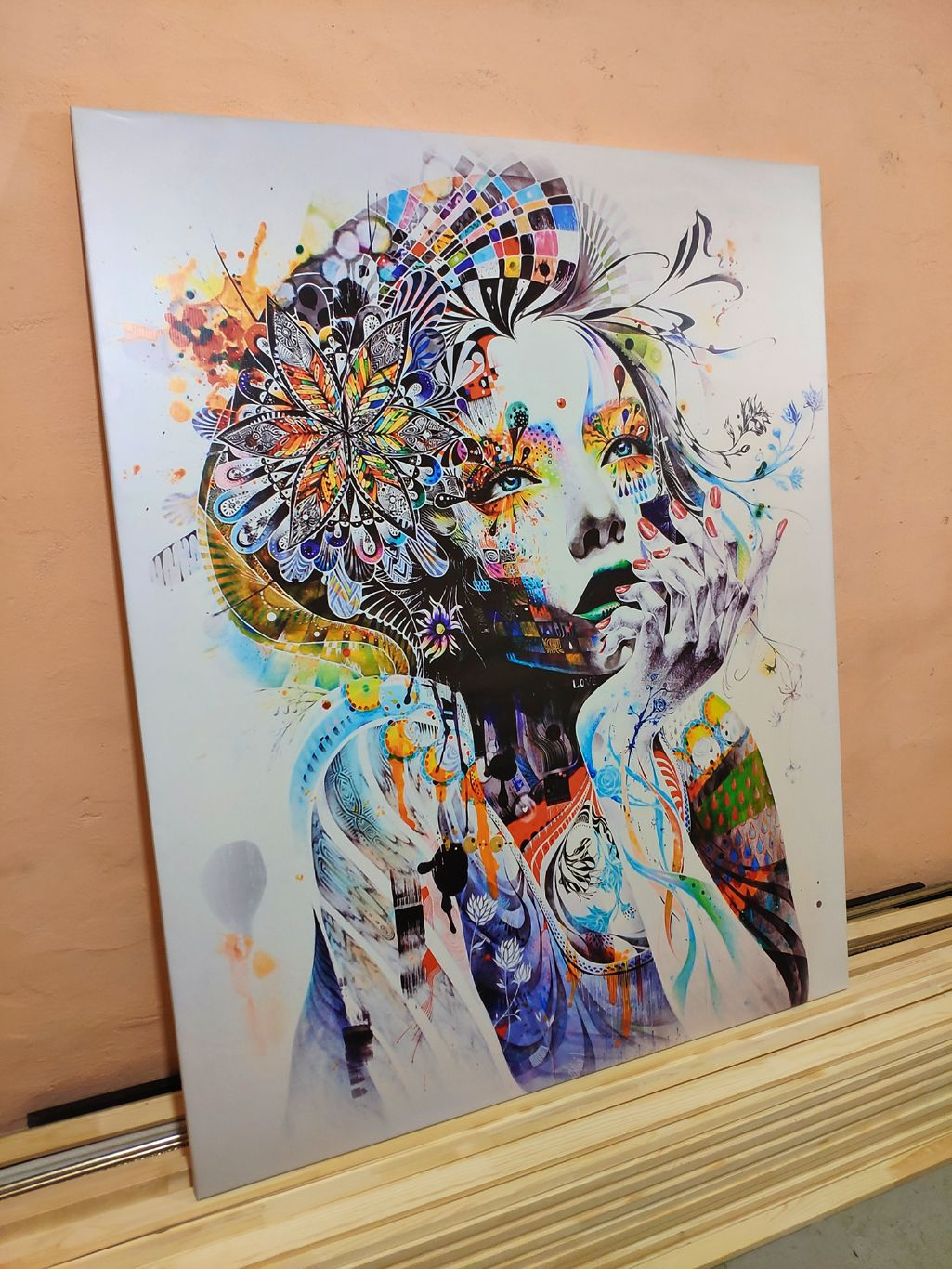 Картина абстрактная художницы для интерьера