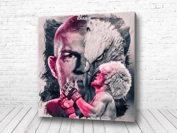 Постер Хабиб Нурмагомедов арт картина