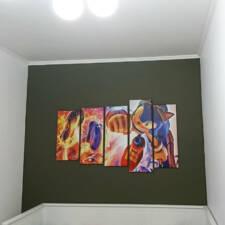 Детская модульная картина соник в интерьере
