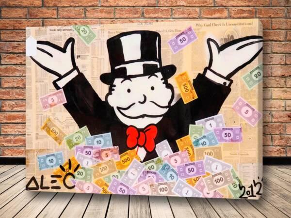 Картина купание в деньгах – Alec Monopoly