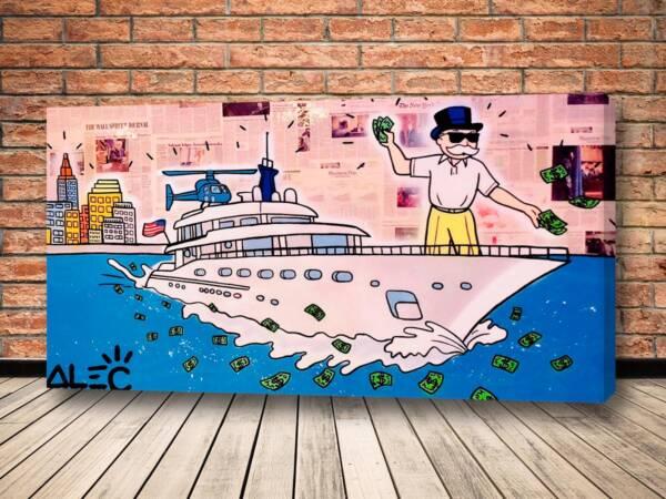 Картина Капиталист на яхте – Alec Monopoly