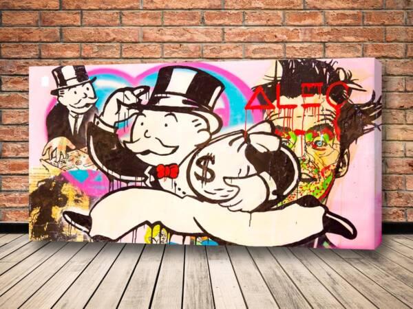 Картина Деньги на скорости - Alec Monopoly
