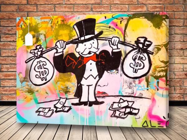 Картина тренировка капиталиста - Alec Monopoly