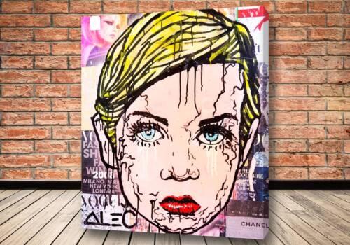Картина Детка блондинка - Alec Monopoly