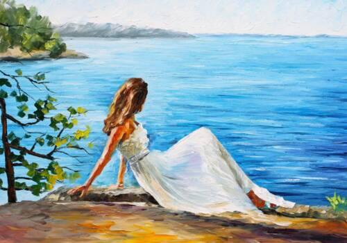 Картина Красавица на берегу