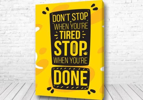 Постер Don't Stop