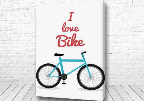 Постер I love Bike