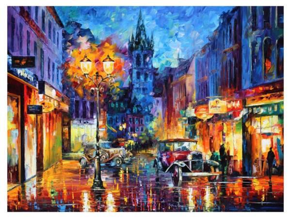 Картина Вечерний город в огнях