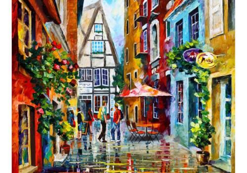 Картина летние улочки