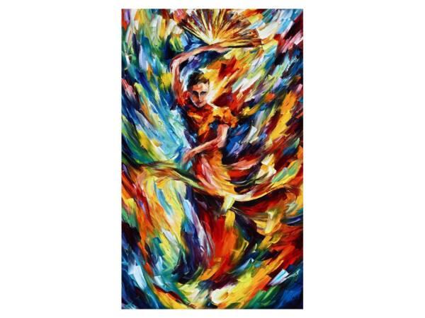 Картина танец с веерами