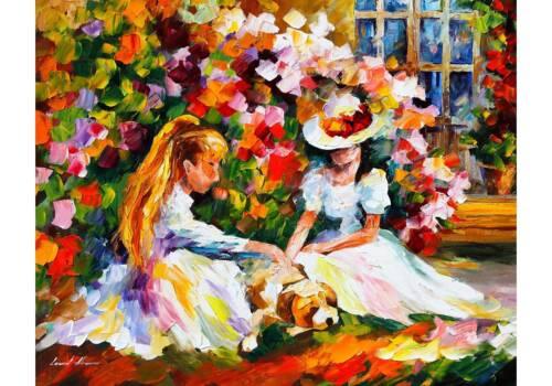 Картина Девочки в саду