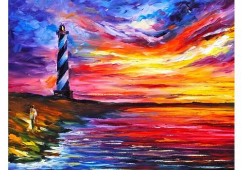 Картина Маяк на закате