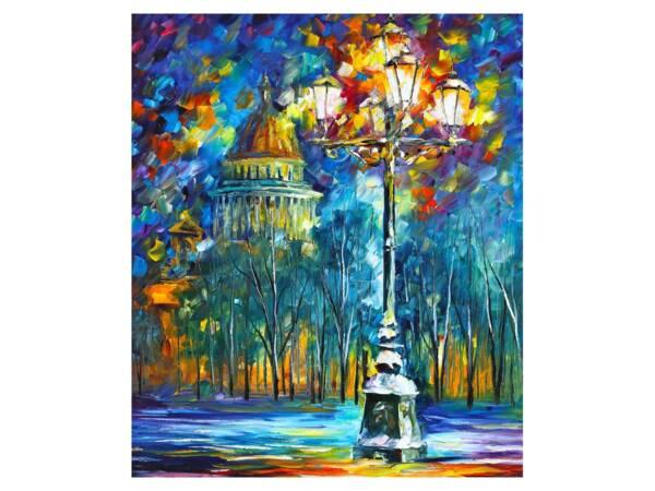 Картина Вечерний фонарь на бульваре