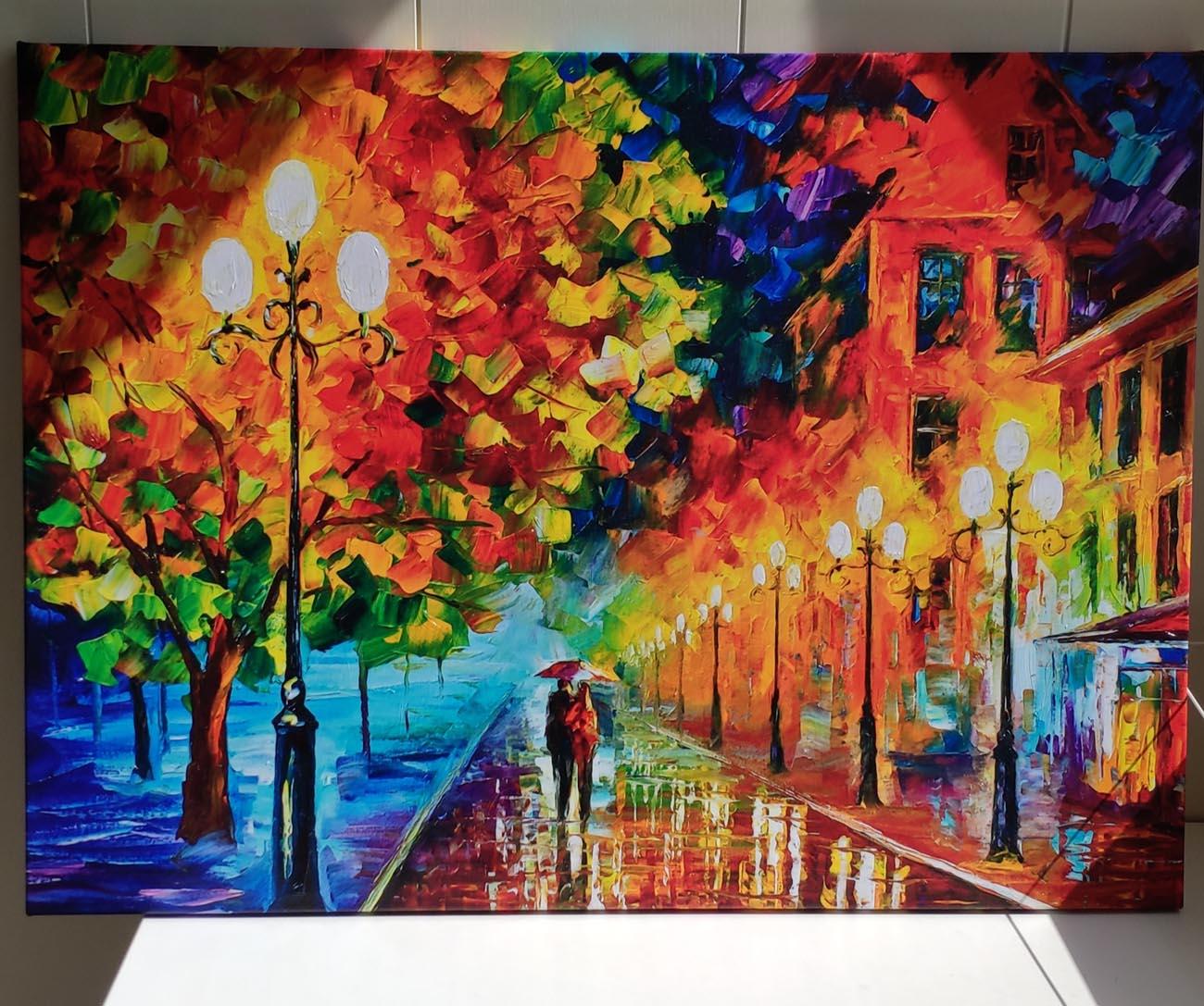 Картина Вечерняя прогулка по аллее