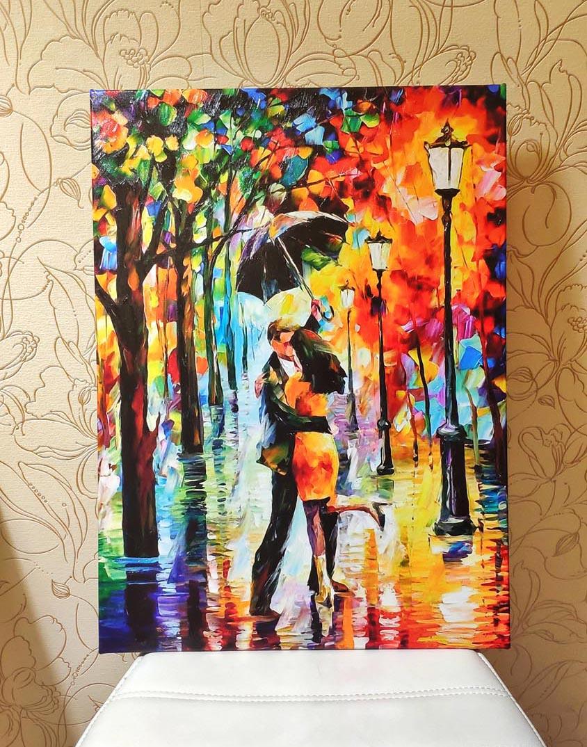 Картина два влюбленных с гелем