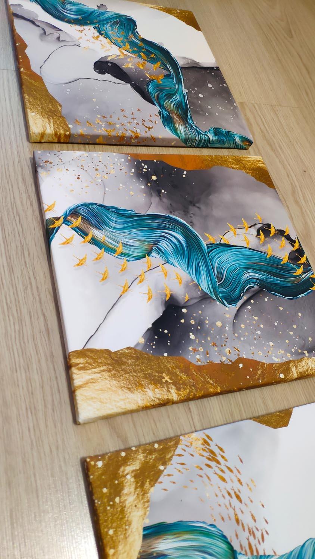 Абстрактные модульные постеры